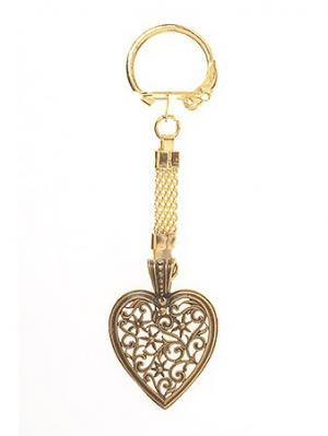 Брелок Винтажное сердце Aztek. Цвет: бронзовый, желтый, коричневый, светло-оранжевый