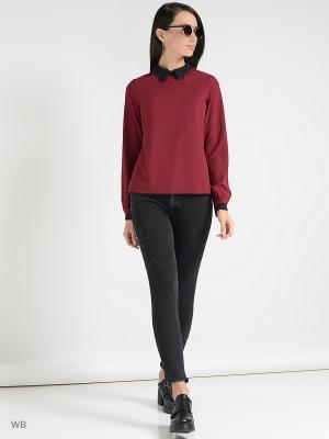 Блузка Colambetta. Цвет: бордовый, черный