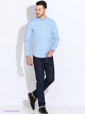 Рубашка Eden Park. Цвет: голубой, белый
