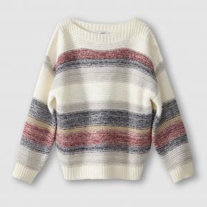 Пуловер из плотного трикотажа с рисунком в полоску, PANYA SUNCOO. Цвет: в полоску/фон экрю