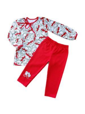 Пижама Кошки Мышки. Цвет: красный