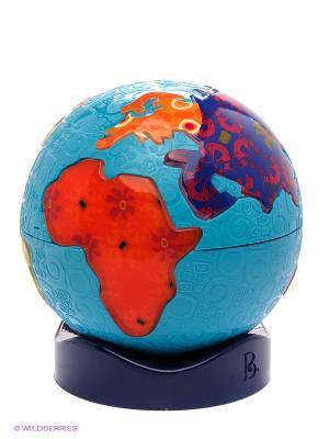 Игрушка Святящийся глобус Battat. Цвет: голубой