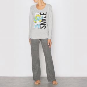 Пижама Les schtroumpfs SIMPSONS. Цвет: серый/ черный