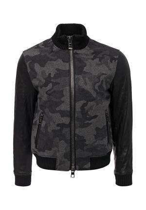 Куртка кожаная Michael Kors. Цвет: серый