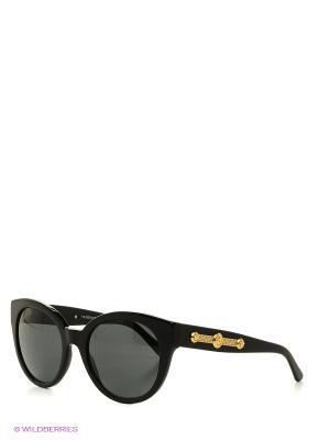 Очки солнцезащитные Versace. Цвет: черный, антрацитовый