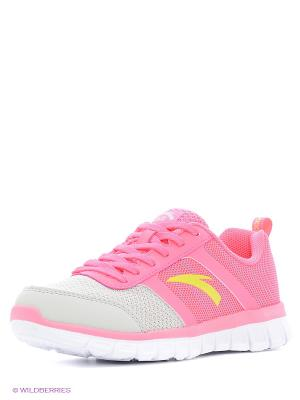 Кроссовки ANTA. Цвет: розовый, желтый, белый, светло-серый