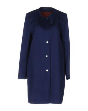 Легкое пальто LAURA URBINATI. Цвет: темно-синий