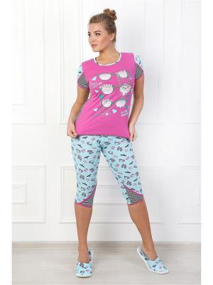 Пижама Бикини 3 ВиоТекс Партнер. Цвет: розовый, бирюзовый
