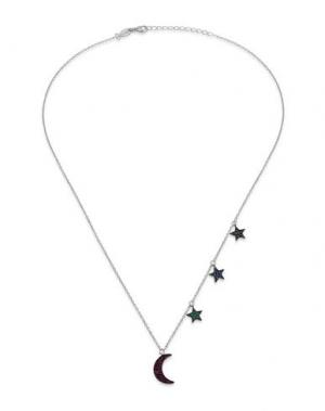 Ожерелье KURSHUNI. Цвет: серебристый