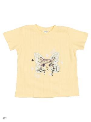 Футболка детская Orso Bianco. Цвет: желтый