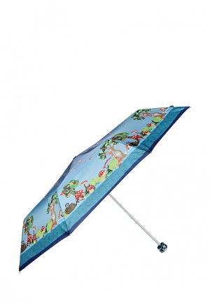 Зонт складной Braccialini. Цвет: голубой