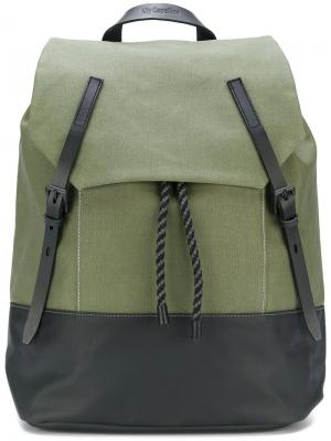 Рюкзак со сборкой Ally Capellino. Цвет: зелёный