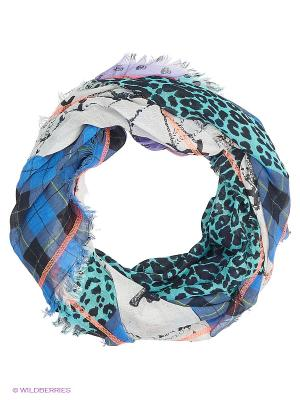 Платок CODELLO. Цвет: синий, бирюзовый, белый