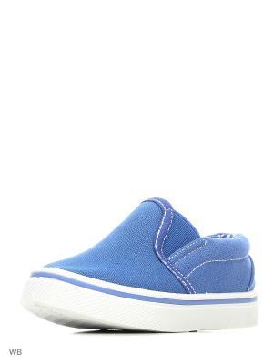 Слипоны Modis. Цвет: синий, голубой