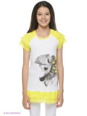 Туника PandaKids. Цвет: белый, желтый