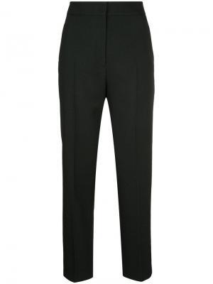 Укороченные брюки с высокой талией H Beauty&Youth. Цвет: чёрный