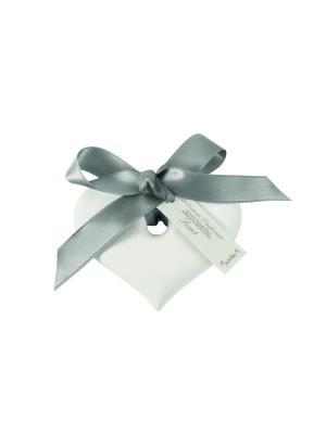 Ароматическая гипсовая подвеска Сердце, аромат Жемчужный сад Mathilde M. Цвет: белый