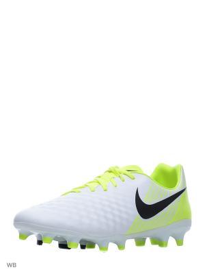 Бутсы MAGISTA ONDA II FG Nike. Цвет: белый