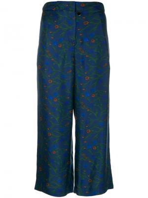 Укороченные брюки Parish Ceramics Christian Wijnants. Цвет: синий