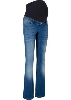 Расклешенные джинсы для беременных (синий «потертый») bonprix. Цвет: синий «потертый»