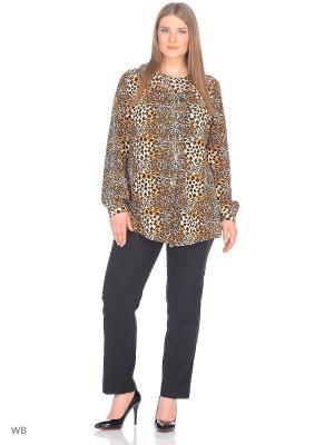 Блузка BERKLINE. Цвет: коричневый, бежевый