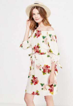Платье Wallis. Цвет: бежевый