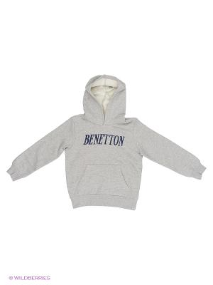 Худи United Colors of Benetton. Цвет: серый меланж
