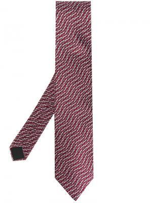 Атласный галстук с узором Lanvin. Цвет: красный