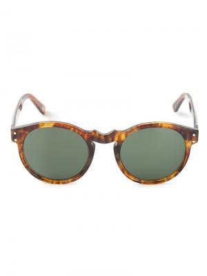 Солнцезащитные очки с узором черепашьего панциря Ahlem. Цвет: коричневый