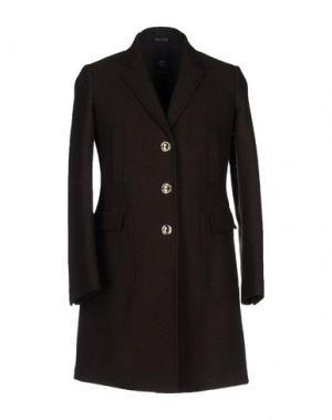 Пальто CALVARESI. Цвет: темно-коричневый