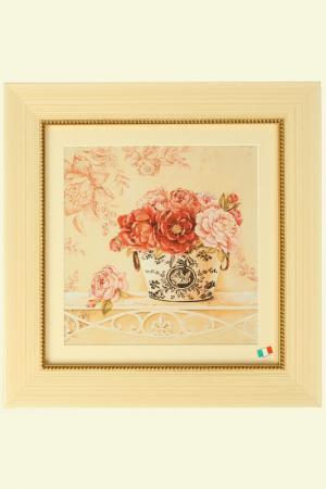 Постер Чайные розы в вазе F.A.L. Цвет: мультиколор