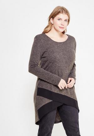 Туника Emoi Size Plus. Цвет: коричневый