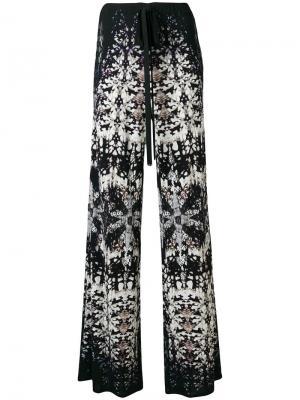 Расклешенные брюки с принтом Roberto Cavalli. Цвет: чёрный