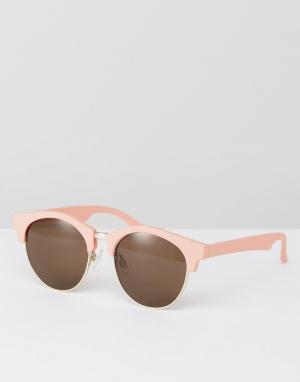 AJ Morgan Круглые солнцезащитные очки. Цвет: розовый