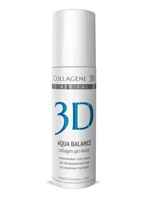 ГЕЛЬ ПРОФ Aqua Balance 130 мл Medical Collagene 3D. Цвет: белый, голубой
