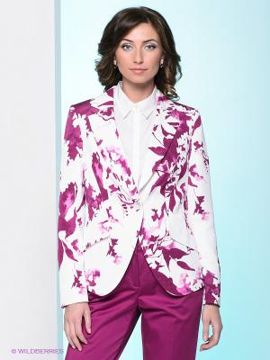 Пиджак Elegance. Цвет: белый, сливовый