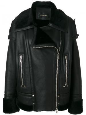 Байкерская куртка Plein Sud. Цвет: чёрный