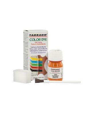 Краситель  для гладкой кожи TDC01 COLOR DYE, стекло, 25мл. (103 тёмно-оранжевый) Tarrago. Цвет: оранжевый