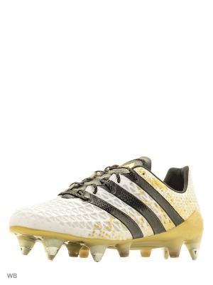 Футбольные бутсы (железки) муж. ACE 16.1 SG Adidas. Цвет: белый
