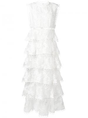 Платье Winsome с вышивкой Zimmermann. Цвет: белый