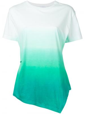 Ombré print T-shirt J.W.Anderson. Цвет: зелёный