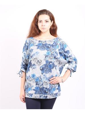 Кофточка Yuliya Shehodanova. Цвет: голубой, серый, черный