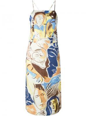Платье с принтом Wyeth Visage Rachel Comey. Цвет: телесный