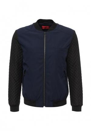 Куртка утепленная Hugo Boss. Цвет: синий