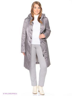 Утепленное пальто MONTSERRAT. Цвет: сиреневый, серебристый