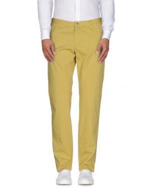 Повседневные брюки MAESTRAMI. Цвет: желтый