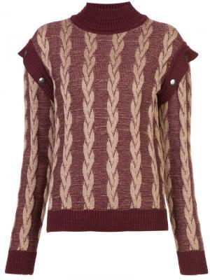 Roll-neck layered sleeve top Marc Jacobs. Цвет: красный