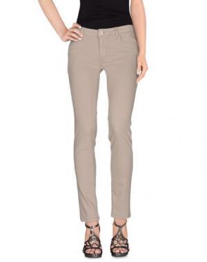 Джинсовые брюки REBEL QUEEN. Цвет: бежевый