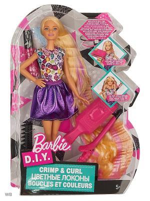 Игровой набор Цветные локоны Barbie. Цвет: розовый, фиолетовый