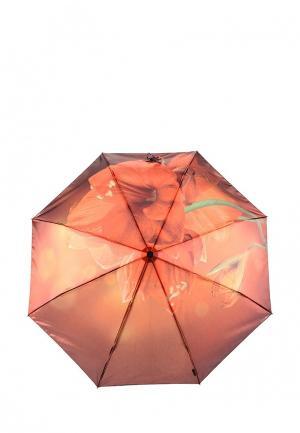 Зонт складной Flioraj. Цвет: оранжевый